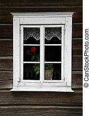 Rural house window