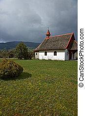 rural, iglesia, en, chile meridional