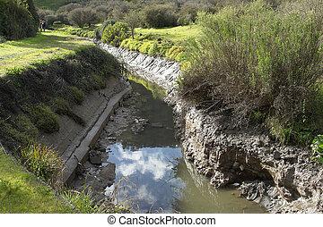 Rural irrigation channel