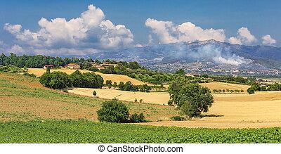 Rural Italian landscape in Tuscany