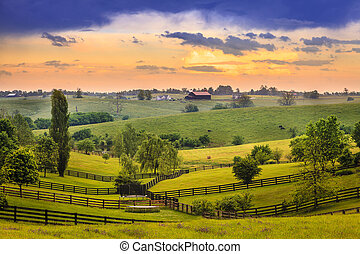 Rural Kentucky - Beautiful evening scene in Kentucky's...