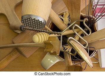 Rural kitchen utensils