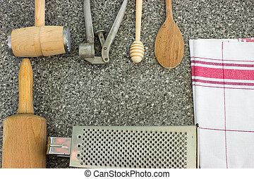 Rural kitchen utensils with free text space