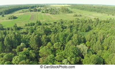 Rural landscape. Aerial view.