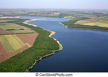 Rural landscape. Aerial view.
