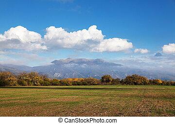 Rural landscape at Balkan Mountain (Stara Planina)