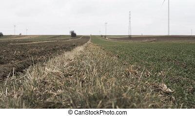 Rural Landscape at the beginning of spring - Rural landscape...