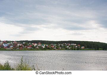 rural landscape at the river