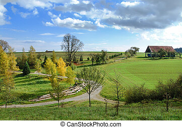 Rural landscape in autumn