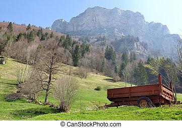 rural landscape in Chartreuse (France)