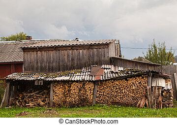 Rural landscape in the Leningrad region, Russia.