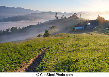 Rural landscape in the mountains