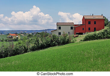 Rural landscape in Tuscany