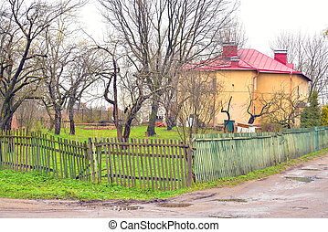 Rural landscape in village Ust Slav.
