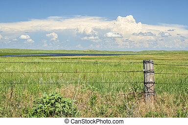 rural landscape of Nebraska Sandhills