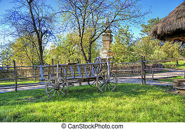 Rural landscape with a cart