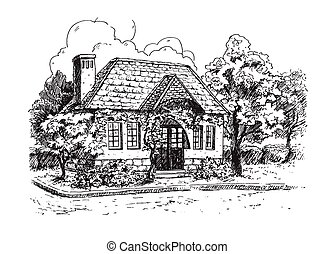 Old Farmhouse Vector Clip Art Royalty Free 361 Old Farmhouse