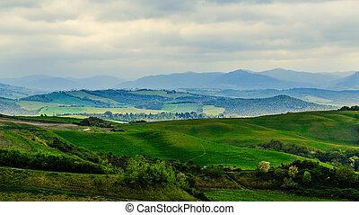 Rural landscape,Tuscany, Italy, Europe.