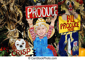 Rural Market - Rural market sign with corn husks.