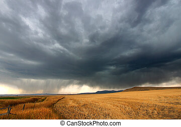 Rural Montana Storm Clouds