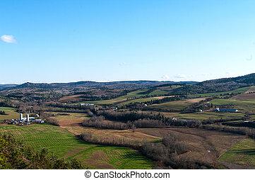 Rural New Brunswick farmland near Sussex