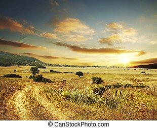 rural, ocaso