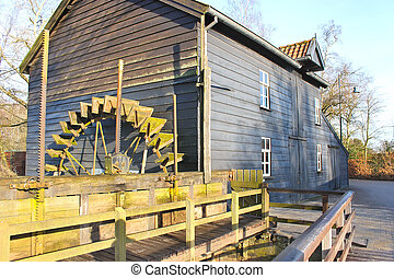 Rural old water mill. France.