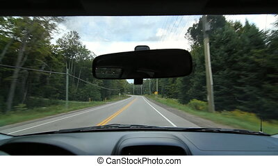 Rural Ontario drive. - Driving in rural Ontario. Near...