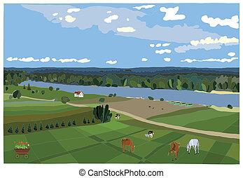 rural, paisagem