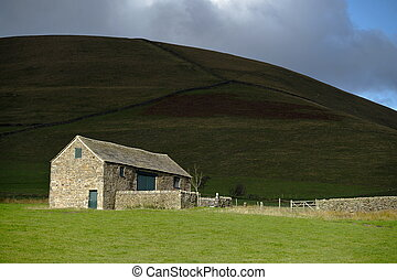 Rural peak district farm building