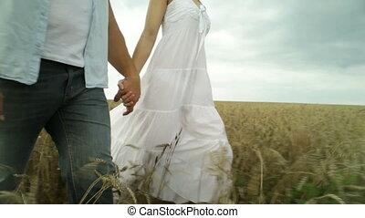 Rural relations - Rural couple taking a walk in the...