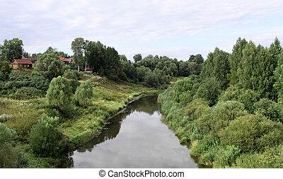 Rural river landscape