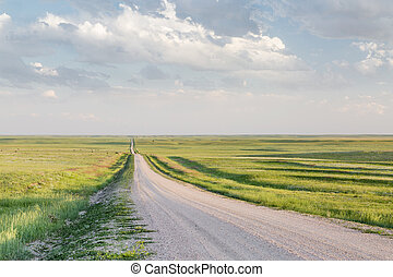 rural road in Colorado prairie
