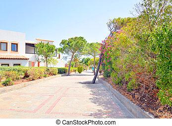 Rural road in Crete.