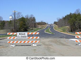rural road sign - rural road construction