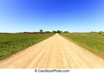 rural road , spring