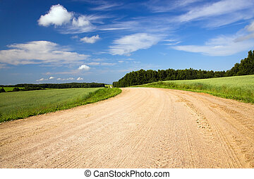 Rural road - The rural road which has been not laid by ...