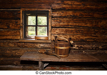 rural, sauna