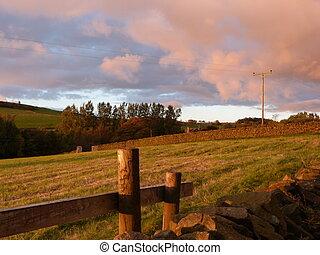 Rural Scene at Dusk