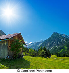 rural scenery in the mountains