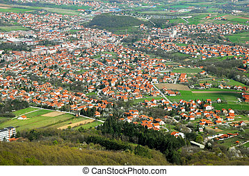 rural, serbie, paysage