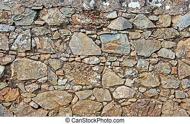 rural stone wall texture