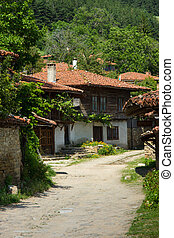 Rural street in the Balkans