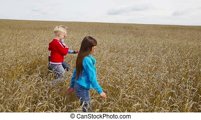 Rural summer - Kids spending their summer vacation in the...