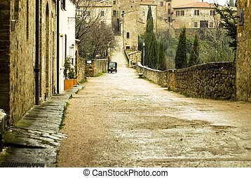 Rural tuscany village