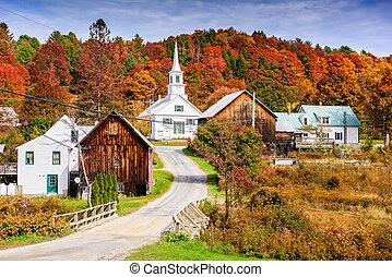 rural, vermont, otoño