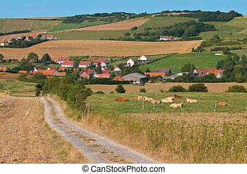 Rural village in France