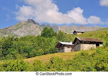 rural village in mountain