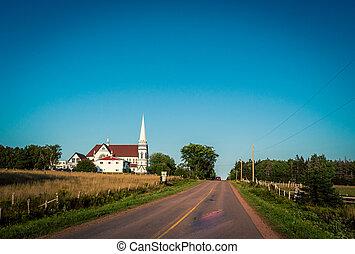 rural white church