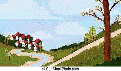 rurale, idilliaco, paesaggio